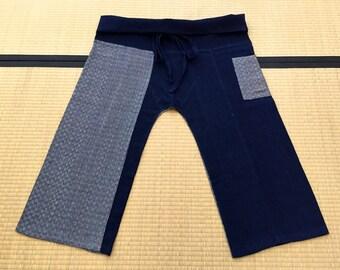 Free Size Indigo Thai Fisherman Pants - TPML1