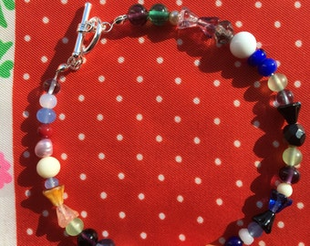 Vintage Multi-color Beaded Bracelet