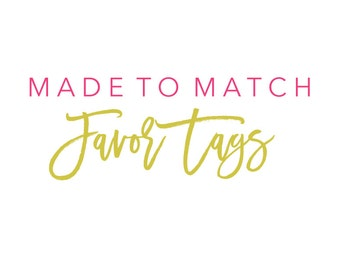 Made to Match Favor Tags Order Add On