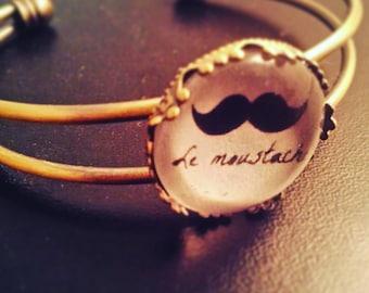 Moustache Bangle Bracelet