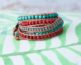 Everwear Maya beaded 5 wrap bracelet