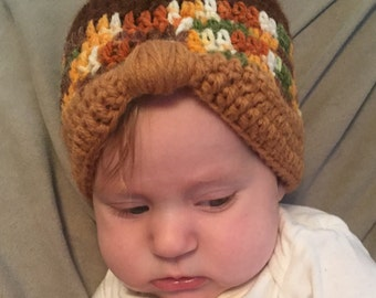 Vintage inspired baby hat