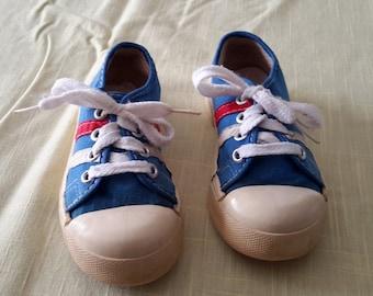 Vintage Blue Children's Tennis Shoes