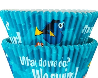 Disney Finding Dory Baking Cupcake Cups by Wilton, 50 Cups  per Package, Perfect For Any Baby Or Kids Party