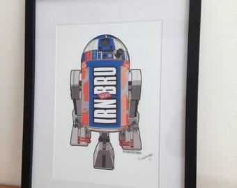 Barr2D2 Signed A4, Framed Artwork.