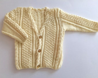 Cream knitted jacket