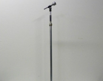 Rare Vintage Microphone, Microphone Cable, and Microphone Stand