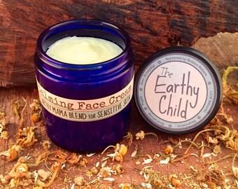 Face Cream, Normal to Sensitive Skin, Moisturizer, skin care, face lotion, calm, repair, soothing, vegan,