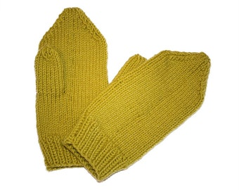 Hand Knit Wool Mittens 4 colors