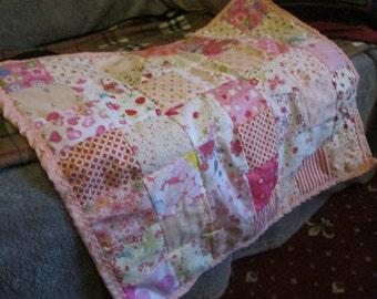 Pink dolls crib or pram cover