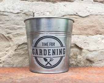 "Planter ""Time for Gardening"""