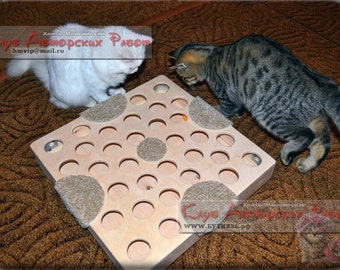 Wooden toy for cats  + video
