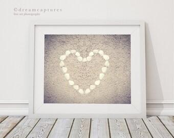 Sea Shell Art - Shell Heart Photo - Beach Photography - Shell Decor - Sea Shell Photograph - Heart Art - Shell Wall Art - Sea Shell Print