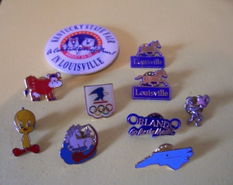 Pin and button set  variety 1980 - 1990's