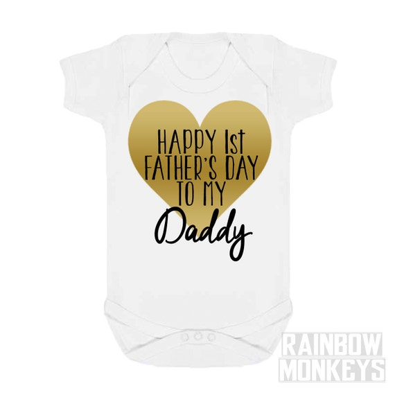 First Father 39 S Day Baby Girl Onesie Shirt Baby Boy By Rmonkeys