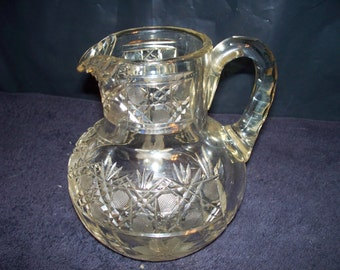 Antique Leaded Crystal Pitcher