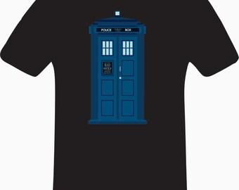 Dr Who, Police Box,   Custom T Shirt