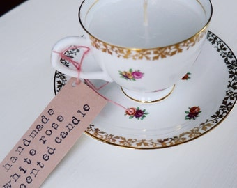 Rose Scented Teacup Candle