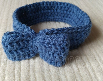 Crochet Baby Bow Headband FREE UK DELIVERY