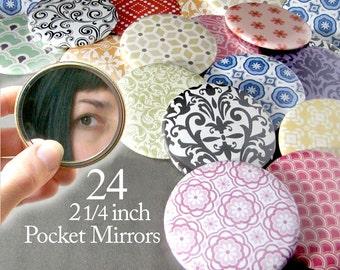24 Bulk Pocket Mirrors Baby Bridal Shower Favors - Small 2.25 Inch