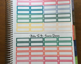 Iconic Headers/Boxes erin condren life planner ECLP Mambi Inkwell Press Filofax Kikki K Happy Life