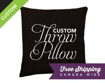 CUSTOM Throw Pillow Cover*, Personalized Pillow, Home Decor Cushion, Choose Your Words, Color, and Style