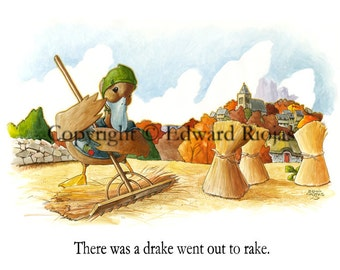 "There Was A Drake (horizontal) 16"" x 20"" Giclee Print"