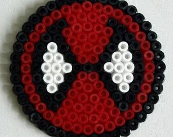 Deadpool Coaster made with Hama Beads