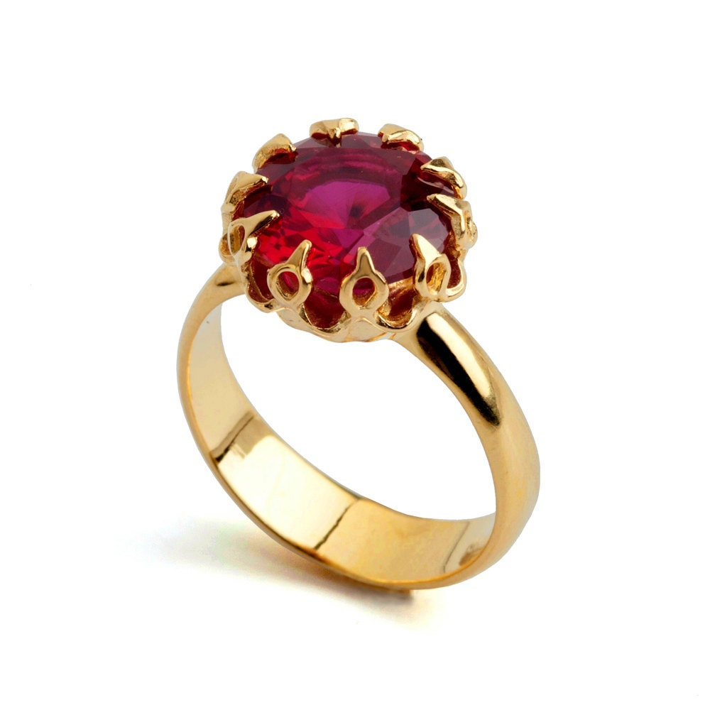 crown gold ruby ring ruby engagement ring ruby promise ring. Black Bedroom Furniture Sets. Home Design Ideas