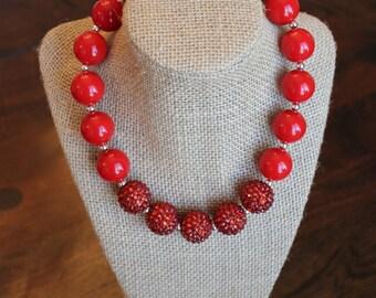 Red Bubblegum Necklace