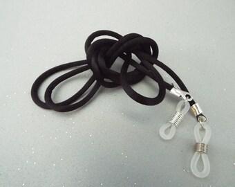 Black Silky Eyeglass Cord