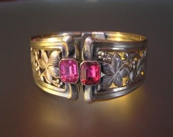 Jugendstil Pforzheim Gilded Metal Bracelet