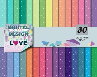Polka dot digital paper commercial use polka dot scrapbook papers background polka dot paper digital polka dots PRINTABLE Instant Download