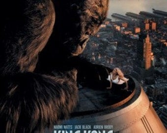 King Kong Movie Poster - Top Of Building - Rare New 24x36