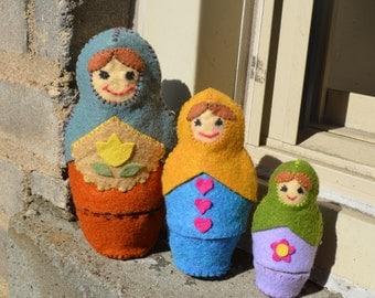 Felt Nesting Dolls