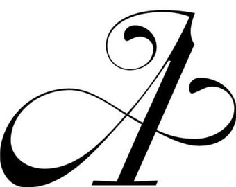 Piece of paper with letter A