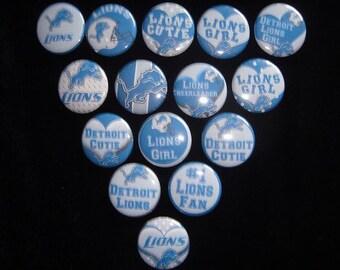 Detroit Lions Cutie Buttons Set of 15
