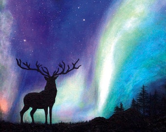 "Print of original acrylic painting-""WONDERS"""