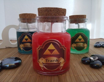 Zelda Potion Candles (Free shipping for orders on 80 Euro with coupon code)