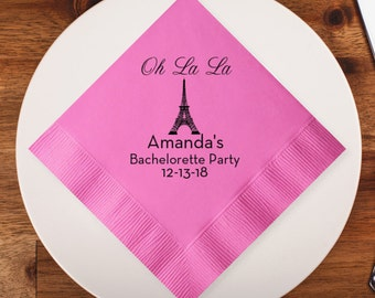 100 pcs Paris Personalized Napkins