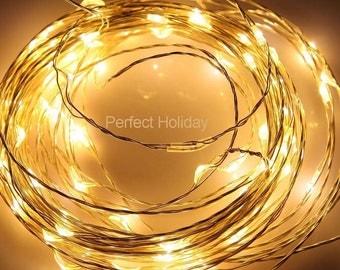 32ft 100 LED Copper Lights UL Waterproof Wedding Garden Centerpiece
