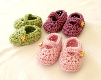 Instant download - Lolly Baby shoes Crochet PATTERN (pdf file)