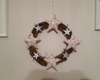 Rattan christmas wreaths