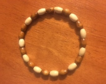 Tanned and Brown Beaded Necklace