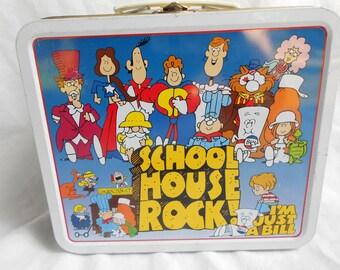 School House Rock lunch tin