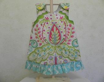 Children's Clothing- Girls Jumper w/ Ruffle Kumari  Gardens-Infant Clothing