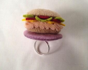100 Percent Wool Felt Turkey Sandwich Ring