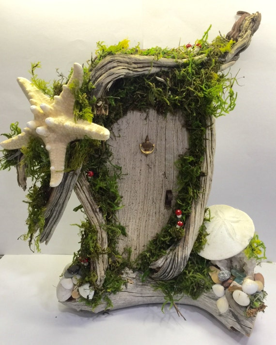 Mermaid fairy door tinkerbell enchanted forest fairy gnome for Tinkerbell fairy door