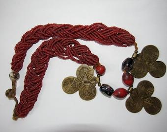 Bronze pendant necklace - Naga jewelry