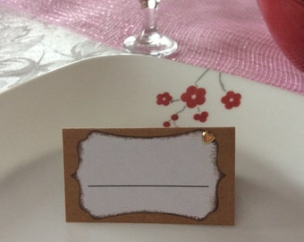 Rustic Place Cards ( 20 pieces)